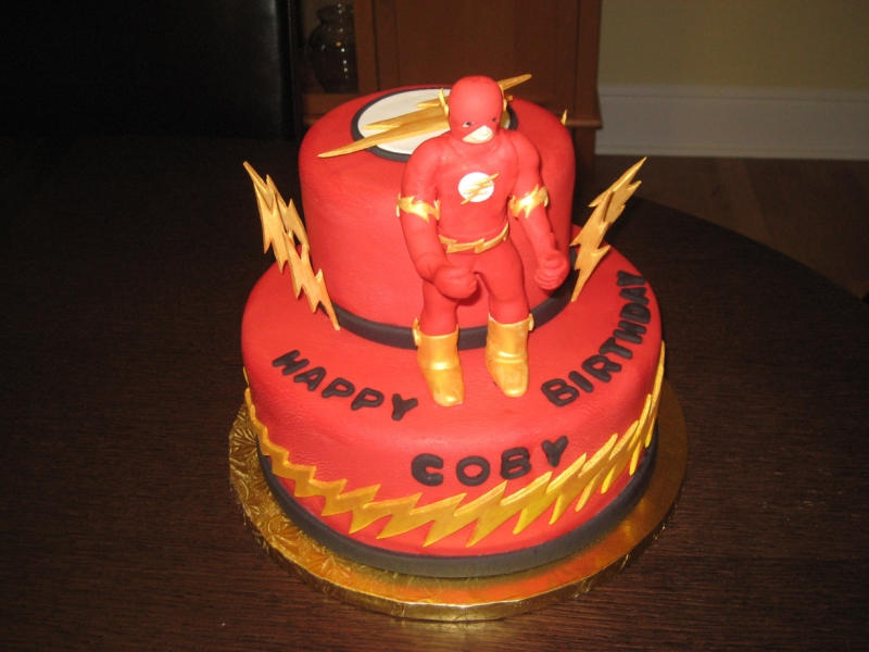 Lego Flash Birthday Cake