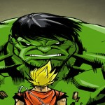 Goku contre Hulk... Ca sent l'écrasage à plein nez! [Motivator]